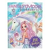 Depesche- Libro para Colorear Stickerworld, Fantasy Model, Aprox. 25 x 33 x 0,8 cm, Color carbón, 33x25x08cm (11243)