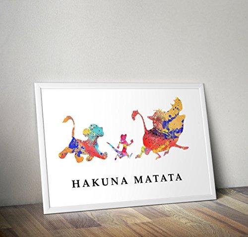 Póster / impresión cartel del rey león inspiró la impresión de la acuarela - Simba - Cita - impresiones alternativas de la TV / de la película en diversos tamaños (capítulo no incluido)
