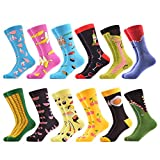 WeciBor Men's Dress Cool Colorful Fancy Novelty Funny Casual Combed Cotton Crew Socks Pack (062-80)