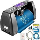 VEVOR Máquina Cortadora de Vinilo 375mm Impresora de Vinilo Software Signmaster 16MB Plotter de Corte de Vinilo para Campo de la Publicidad, Decoración Variada, Artesanía, Fabricación de Etiqueta