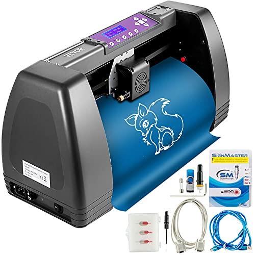 VEVOR Máquina Cortadora de Vinilo 375mm Impresora de Vinilo Software Signmaster 16MB Plotter de Corte de Vinilo para Campo de la Publicidad, Decoración Variada, Artesanía, Fabricación de Etiqu