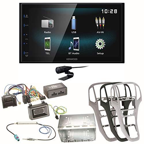 Kenwood DMX-120BT Bluetooth Freisprecheinrichtung USB MP3 Autoradio 2-DIN Moniceiver Einbauset für Opel Astra J