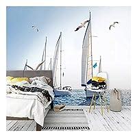 3D壁紙家の装飾セーリングボート風景壁画リビングルームソファテレビ背景壁紙壁画