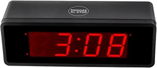 Kwanwa Alarm Clock Battery Operated Powered Only with 1.4'' Big Red LED Numbers Display