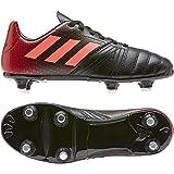 Adidas All Blacks Junior (SG), Chaussure de Piste d'athlétisme Mixte Enfant, Noyau Noir/Corail Signal/ÉCARTEAU, 38 2/3 EU