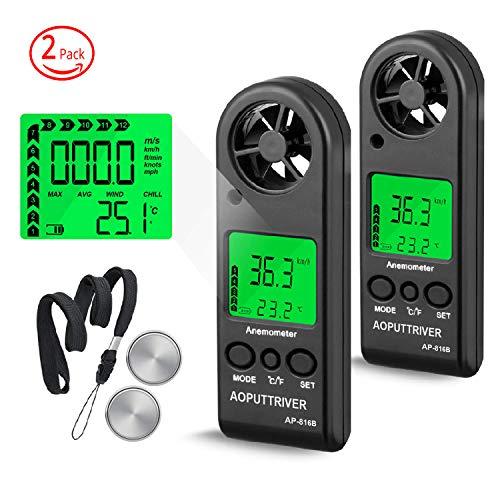 Anemómetro de Mano Digita para Medir la Velocidad del Viento,la Temperatura y...