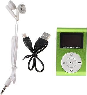 siwetg MX 801 mini USB metallklämma mikro SD TF kortplats LCD-skärm musik MP3-spelare