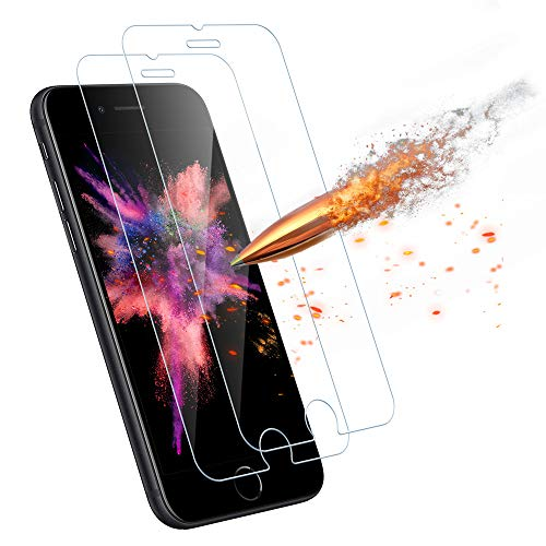 Agedate Schutzfolie Panzerglas für iPhone SE 2020/iPhone 8/7/6s/6,9H Härte,Neues Ölrepel,Blasen-Frei,Anti-Kratzen,2.5D Runde Kante,Schutzglas Kompatibel mit iPhone SE 2020/iPhone 8/7/6s/6-2 Stück