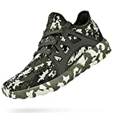 MARSVOVO Mens Running Shoes Non Slip Ultra Lightweight Sneakers Breathable Air Knitted Mesh Cauasl Workout Fashion Tennis Athletic Gym Sports Walking Shoes Camouflage Green Size 9.5