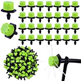 URATOT 200 Pieces Adjustable Irrigation Drippers Sprinklers 1/4 Inch Irrigation Emitters Anti-Clogging Drippers for Micro Watering System