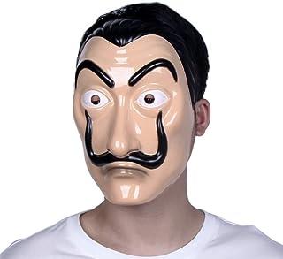 Máscara Dali Mask CASA de Papel Salvador Dali Plástica Mascarilla Realistic Cosplay Máscara de fiesta