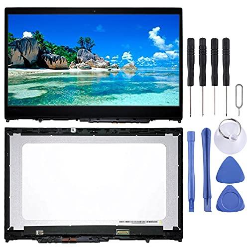 ASAMOAH Pantalla LCD de reemplazo de teléfono Celular 3840 x 2160 Ensamblaje de Pantalla y digitalizador Digitalizador UHD con Marco para Lenovo IdeAPAD Flex 5-15 / Yoga 520