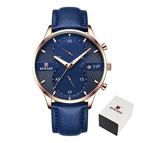 ZHUANYIYI Reloj De Cuarzo Impermeable De 30 M con Calendario Deportivo Informal De Negocios para Hombre, Reloj Cinturón De Esfera Grande Y Creativo A La Moda