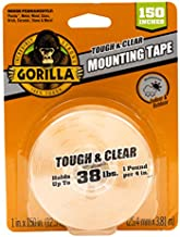 Gorilla Tough & Clear Double Sided XL Mounting Tape, 1