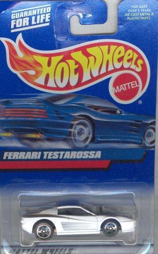 Hot Wheels 2000-136 White FERRARI TESTAROSSA 1:64 Scale