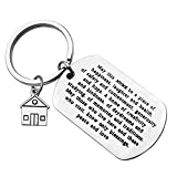 Ciyumu for New Home Keychain Gift Housewarming Gift for New Homeowner Jewelry Moving in Key Chain Gift for New Home Owners Jewelry House Keyring First Home Gift Realtor Closing Gifts New memories Keychain, Silver, Small