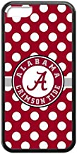Generic Custom Extraordinary Best Design NCAA University of Alabama Crimson Tide Team Symbol Plastic and TPU Black and White Case Cover for iPhone5C