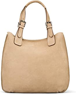 SAGEBROWN Megan Nubuck Hobo Handbag