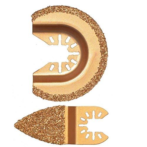 Oscilante Multi herramienta de diamante Segmento oscilación Grout carburo multifunción para el pulido de cemento Molienda de granos de oro 2PCS