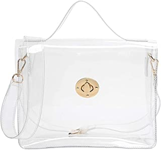 FANCY LOVE Classy Waterprof Clear Tote Beach Shoulder Crossbody Bag