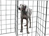 Flexipanel 25ft The Portable, Flexible, Foldable Dog Fence | Indoors or Outdoors | Gate | Barrier (25ft Fence)