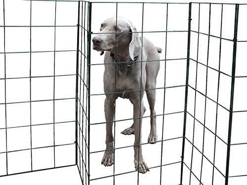 Flexipanel 25ft The Portable, Flexible, Foldable Dog Fence   Indoors or Outdoors   Gate   Barrier (25ft Fence)