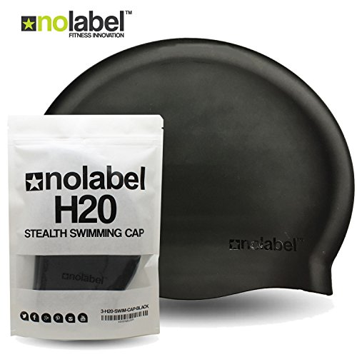 No Label Badekappe Flat Silcone H20 Professionelle Badekappe aus reißfestem Silikon | Latexfreie Badekappe | Wettbewerb Erwachsene Herren oder Damen (3 x Badekappe)