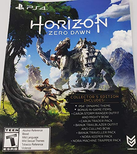 Horizon Zero Dawn Collector's Edition DLC Physical Card PS4 Playstation 4