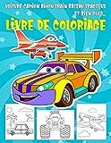 Voiture Camion Avion Train Bateau Tracteur Livre de Coloriage: Dessins Uniques de Véhicules de transport Livre de Coloriage Anti Stress pour les Enfants (Garçons/Filles) de 4 à 8 ans