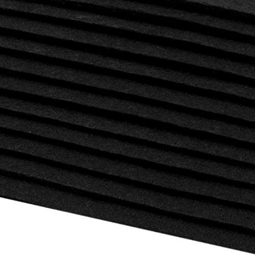 Lot de 12 plaques de feutrine épaisseur 2-3 mm A4 20 x 30 cm noir