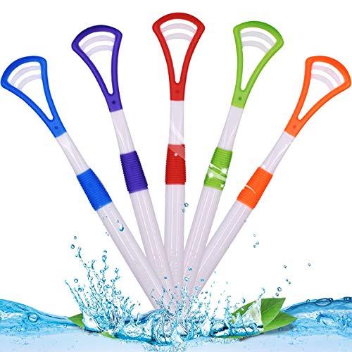 NALCY 10 Stücke Kunststoff Zungenschaber Zungenreiniger für Kinder Erwachsene, Zungenschaber Zungenreiniger für Mundpflege Frischer Atem - Bequem &Sicher