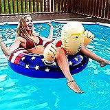 1 Pc Trump Pool Float,Trump Pool Raft,Trump Inflatable Pool Float,Trump Float ,Trump Raftz,Trump Swimming Ring by YULONGTEN