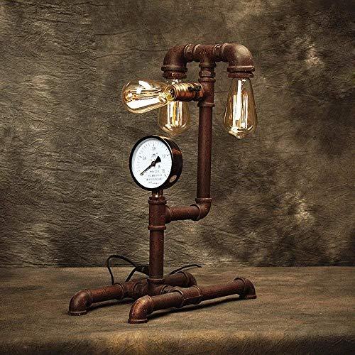 Utility tafellamp, pijp, antieke look, retro, koffie, decoratie, restaurant, kantoor, nostalgisch, bureaulamp, T-D