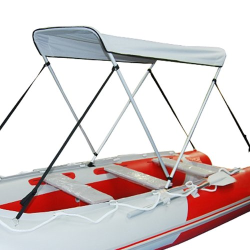 Portable Bimini Top Cover Canopy for Inflatable Kayak Canoe Boat (2 Bow)