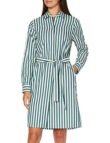 Seidensticker Damen Blusenkleid Midi - Bügelleichtes Blusenkleid mit Hemdblusenkragen - Regular Fit – Langarm, June Bug, 40