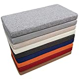 Zomsame Cojín suave para mesa de comedor de cocina de 2 3 4 plazas, cojín grueso para asiento de banco, cojín de banco de madera para silla de columpio/muebles de exterior (180 x 35 cm, gris claro)