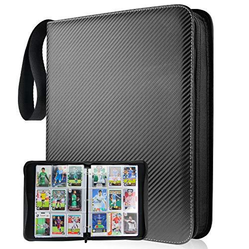 9-포켓 900 카드가 바인더와 호환되는 트레이딩 카드 휴대용 저장 케이스와 이동식 시트 카드를 위한 바인더를 수집 스포츠 카드 야구를 위한 카드는 카드렉(줄무늬)-TONESPAC