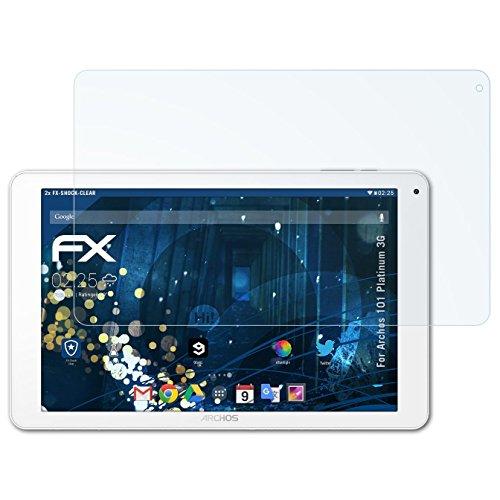 atFolix Schutzfolie kompatibel mit Archos 101 Platinum 3G Panzerfolie, ultraklare & stoßdämpfende FX Folie (2X)