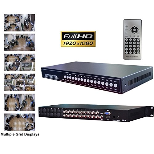 CCTV Camera Pros VM-99509 9 Channel CCTV Video Multiplexer, AHD HD-TVI HDCVI Analog Cameras, BNC VGA HDMI Output
