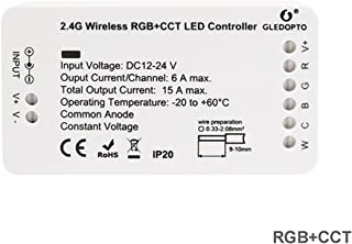 ZigBee LED Strip Light Controller, RGB+CCT Color Changing and Dual White Temperature Dimmer Switch for 12-24V Rope Light, ZigBee Light Link ZLL, Philips Hue Bridge, Amazon Echo Plus