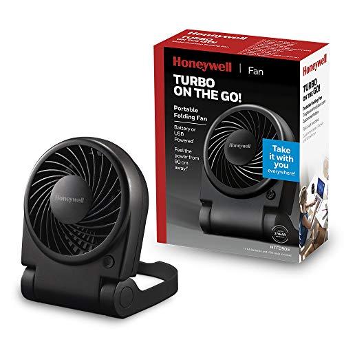 Honeywell HTF090E Turbo on the Go! Ventilator (klein, tragbar, klappbar, individuell einstellbar, USB-betrieben) HTF090E