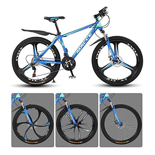 @Y.T 26-Zoll-Mountain-Offroad-Fahrrad, verdickter Kohlenstoffstahlrahmen doppelte Stoßdämpfung Doppelscheibenbremsen für Erwachsene im Freien