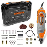 Terratek Rotary Tool Kit 135W with 80pc Accessory Set & Storage Case, Variable Speed 8000-30000rpm, Ideal for DIY, Woodwork & Hobby Craft, Dremel Compatible