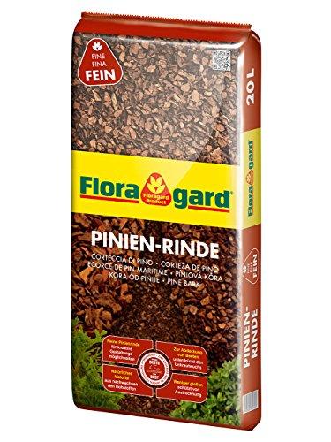 Floragard Pinienrinde 2-8 mm 20 Liter Mulch, Erdfarben