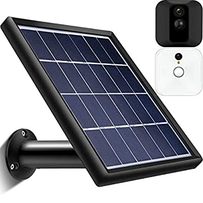 Solar Panel Compatible with Blink XT XT2 Outdoor Indoor Security Camera, Waterproof Power Continuously, Adjustable Mount, 12ft/3.6m Cable (Cam Not Included)