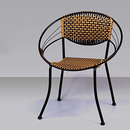 LZPQ Gartenmöbel Geflochtene PE-Korbstühle, stapelbare, moderne, bequeme Gartenstühle mit Rückenlehnen im Rasenpool