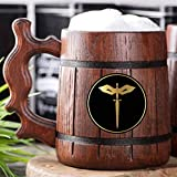 Dungeons & Dragons Rogue Beer Mug. D&D Wooden Tankard. Wooden Beer Mug. Personalized Gift For Him. Custom Beer Stein. DnD Gamer Gift. Gift For Husband, Boyfriend Gift #334/0.6L/22 ounces