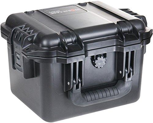 PELI Storm IM2075 Maletín técnico Profundo para cámaras DSLR, GoPro, réflex y Drones, IP67 estanco e Impermeable al Polvo, 8L de Capacidad, Fabricado en EE.UU, sin Espuma, Color Negro