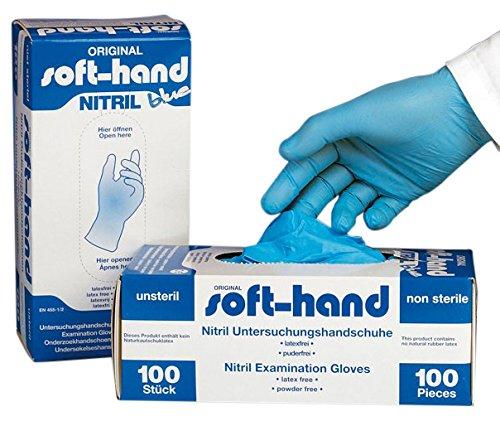 Soft-hand H9 7001 Gants en nitrile Poudre (gratuit) – Bleu (lot de 100)