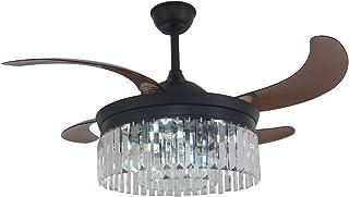 Ventilador de techo con iluminación y mando a distancia de 42 pulgadas, 48 piezas fuera del cristal y 24 piezas dentro del mando a distancia normas sin fuente de luz